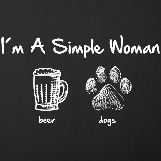 simple woman beer white