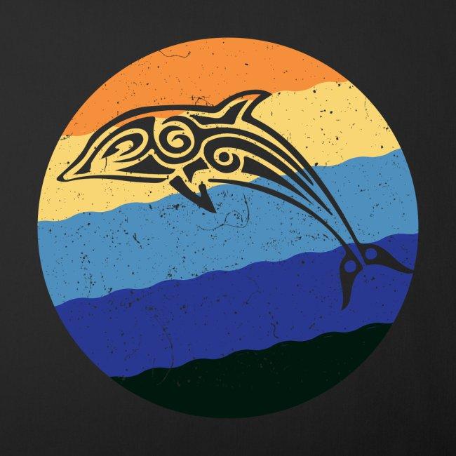 Greek Dolphin Retro