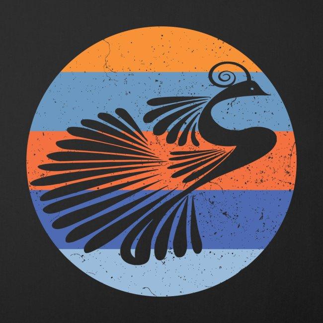 Indian Peacock Retro