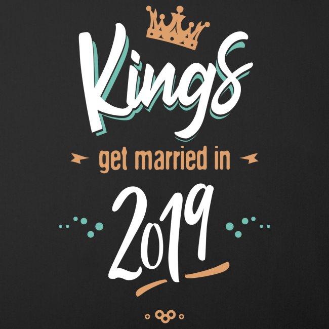 Kings get married in 2019