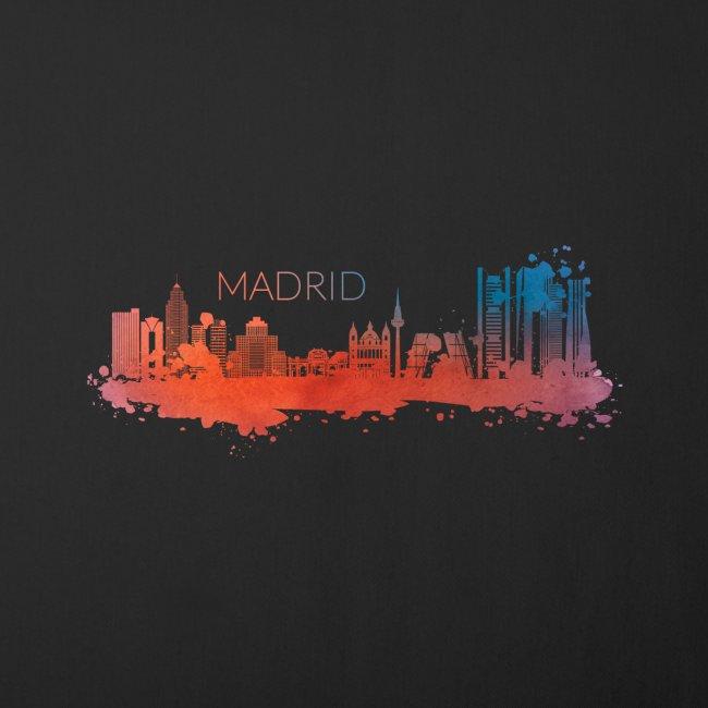 MADRID SKYLINE WATERCOLOR