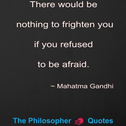 Gandhi Afraid w - Sierkussenhoes, 45 x 45 cm
