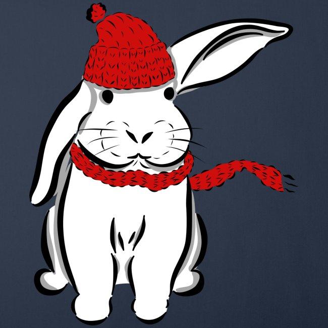 Kaninchen Hase Mütze Schal Schlappohr Schneehase