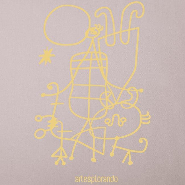 Joan Mirò, Figure e cane davanti al sole