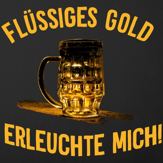 Flüssiges Gold Saufen Bier Feste Motiv Biergarten Sofakissenbezug 44 X 44 Cm