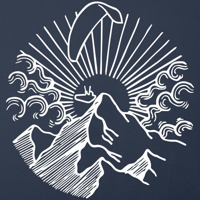 Mountain Sunrise Paraglider