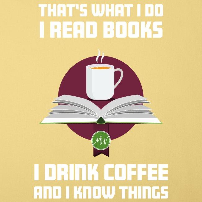 Buch und Kaffee, hell