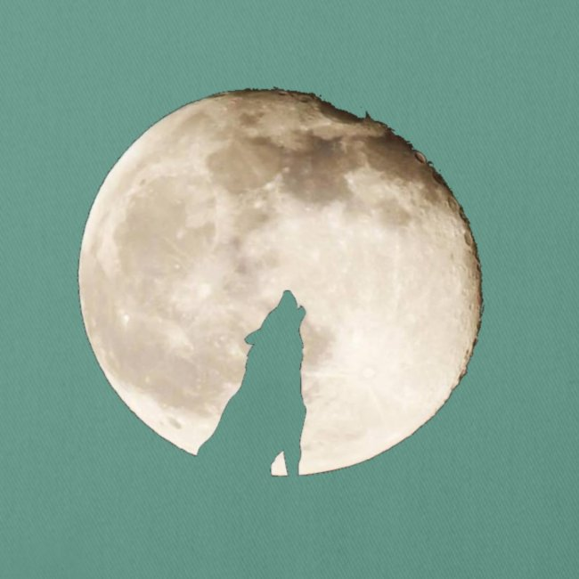 The wolf with the moon