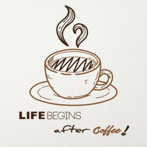 Life begins after-coffee - Sofa pillow cover 44 x 44 cm