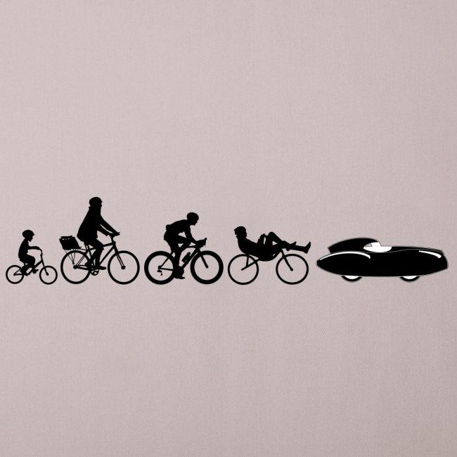 Bicycle evolution black Quattrovelo