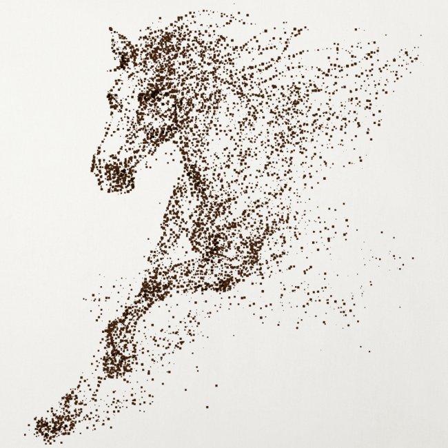 Vorschau: Pixel Horse brown - Sofakissenbezug 44 x 44 cm