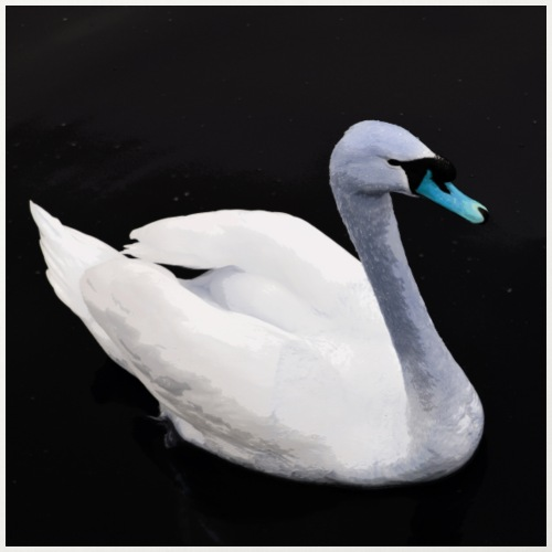 'Blue Swan' by BlackenedMoonArts - Pudebetræk 45 x 45 cm