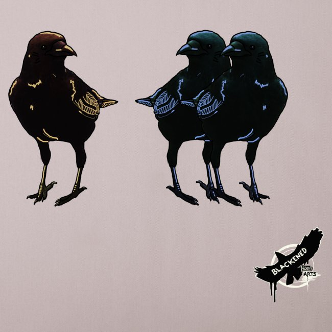 Crows by BlackenedMoonArts, with logo