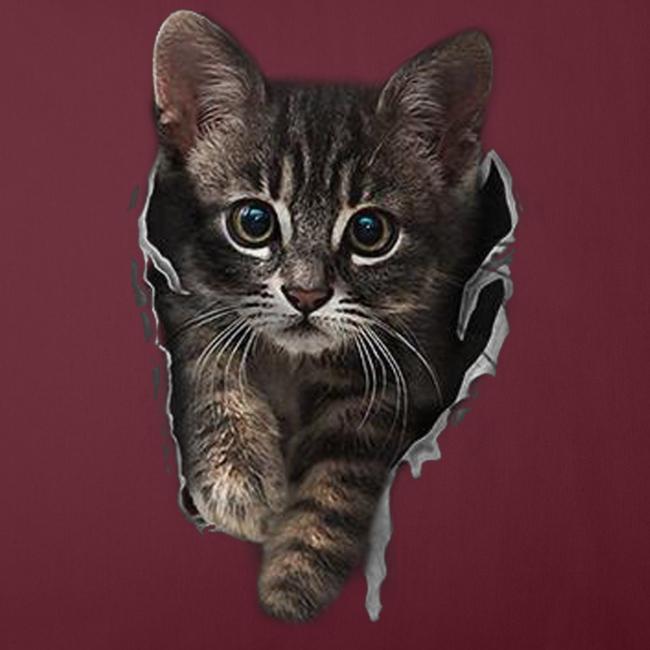 Vorschau: Katze Riss - Sofakissenbezug 44 x 44 cm