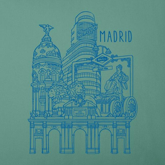 MADRID COLLAGE AZUL