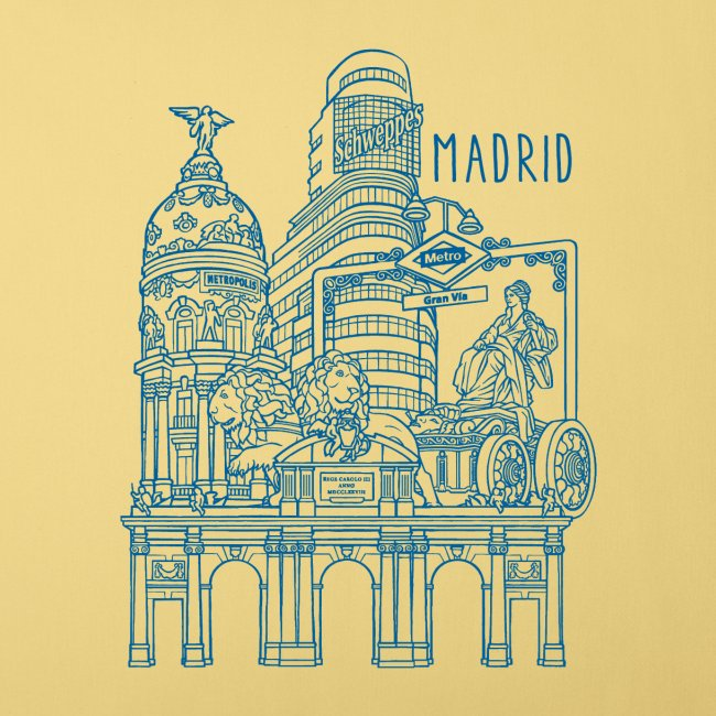 MADRID COLLAGE AZUL