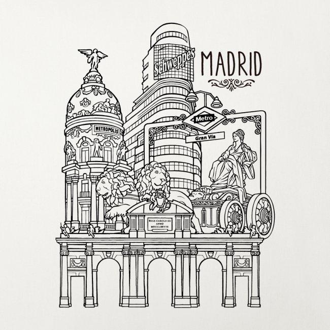 MADRID COLLAGE NEGRO