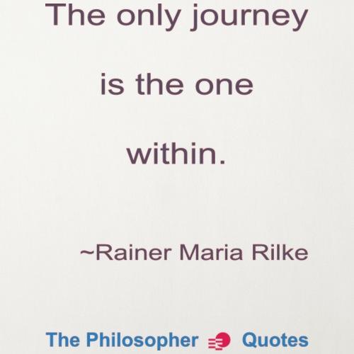Rainer Maria Rilke The journey within Philosopher - Sierkussenhoes, 45 x 45 cm