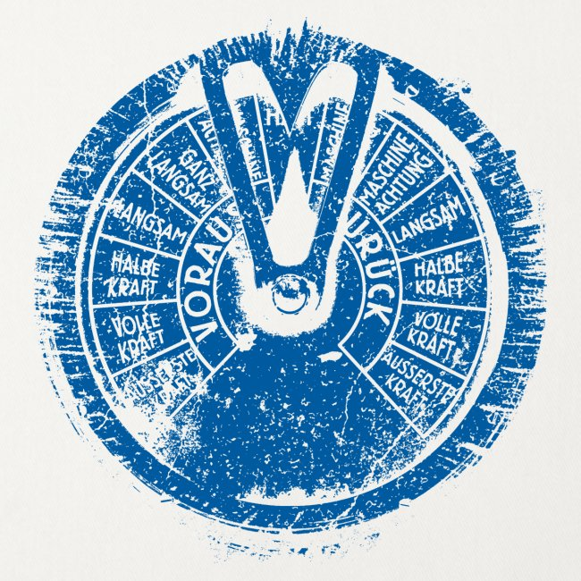 Maschinentelegraph (blue oldstyle)