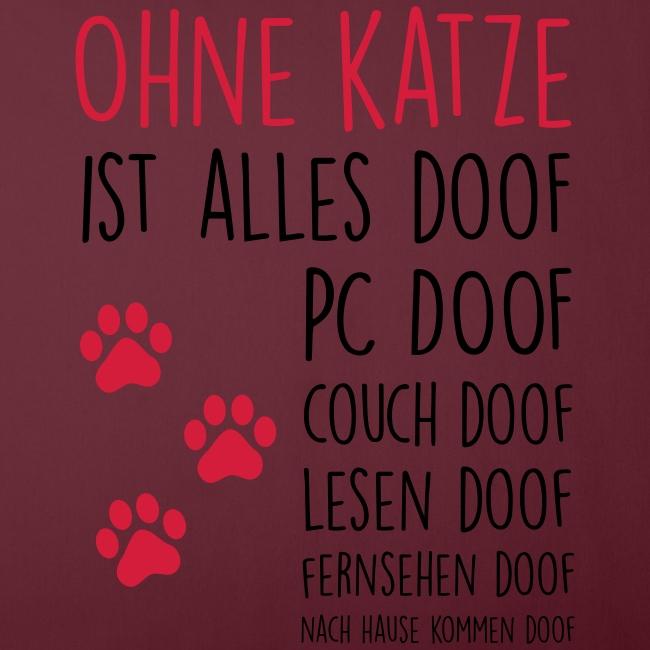 Vorschau: Ohne Katze ist alles doof - Sofakissenbezug 44 x 44 cm