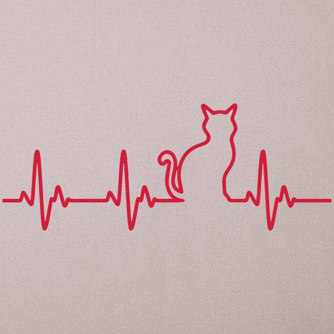 Vorschau: Ein Herz für Katzen - Sofakissenbezug 44 x 44 cm
