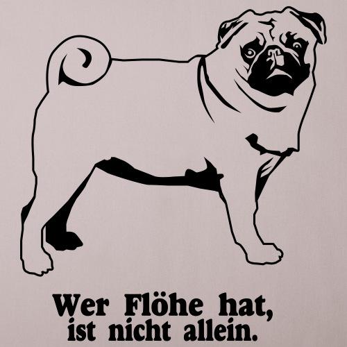 Für Hundefreunde zum Thema Floh - Sofakissenbezug 44 x 44 cm
