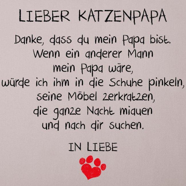 Vorschau: Lieber Katzenpapa - Sofakissenbezug 44 x 44 cm