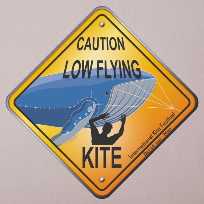 Roadsign Attention cerf-volant à basse altitude