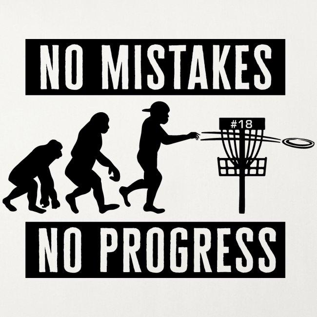 Disc golf - No mistakes, no progress - Black