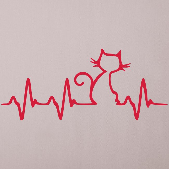 Vorschau: Cat Heartbeat - Sofakissenbezug 44 x 44 cm