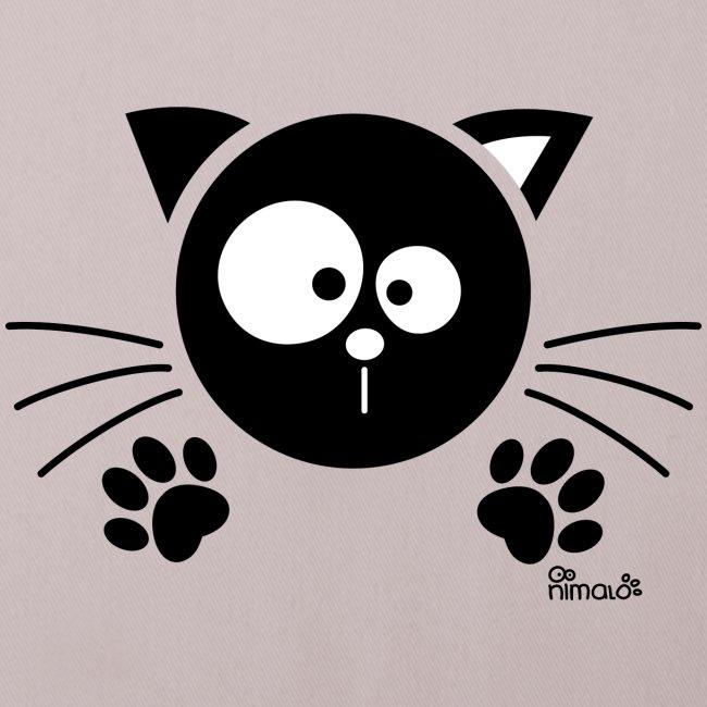 Nes pour une mauf Coussin 40x40 cm cadeau idée chat souris sort Motif Drôle Neuf