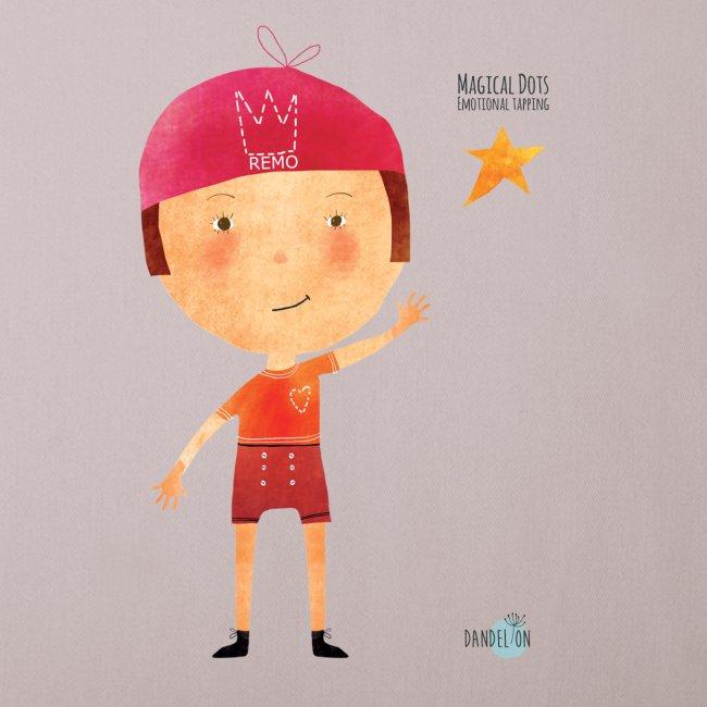 Maglietta mascotte Remo di Magical Dots Jr