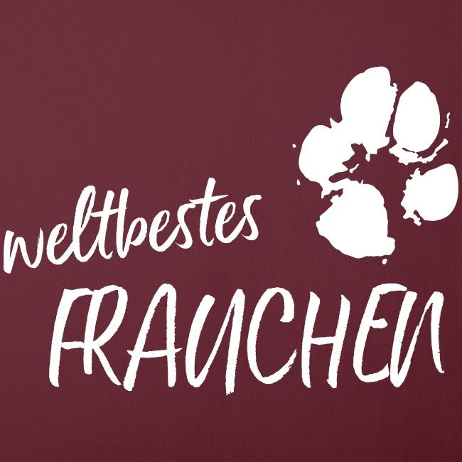 Vorschau: weltbestes Frauchen Pfote Hund - Sofakissenbezug 44 x 44 cm