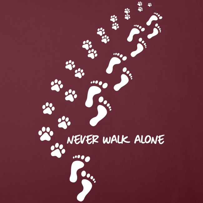 never walk alone dog - Sofakissenbezug 44 x 44 cm