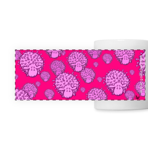 Virus Sheep mug (fluor pink edition) - Kubek panoramiczny