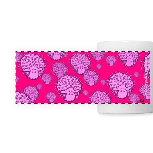 Virus Sheep mug (fluor pink edition) - Taza panorámica