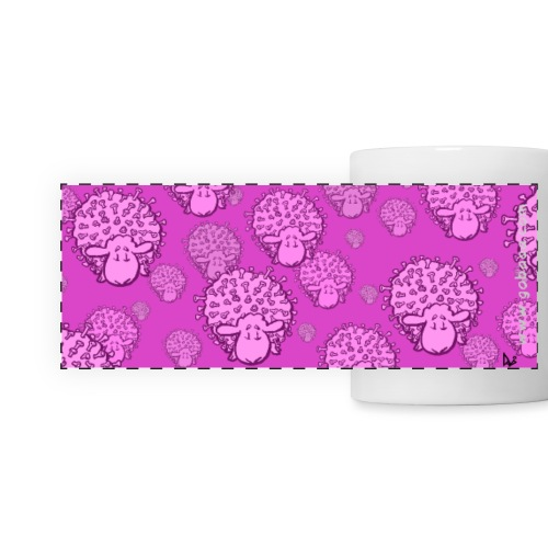 Virus Sheep Mug (rosa utgåva) - Panoramamugg