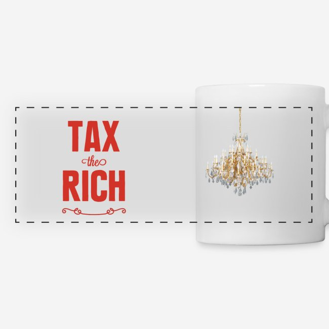 Tax the Rich, röd, muggtryck