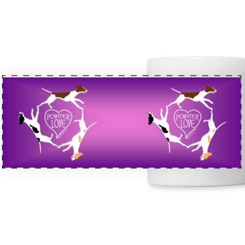Three pointers heart mug2 - Panoramic Mug