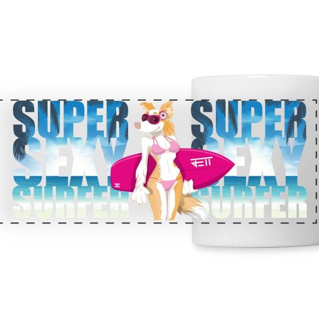 Super Sexy Surfer Jett   mug