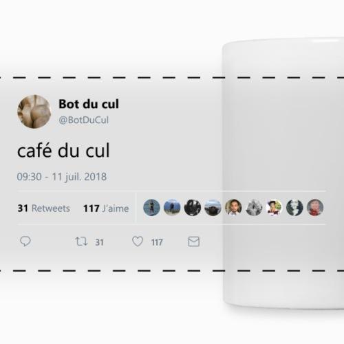 """Tweet """"café du cul"""" blanc"""