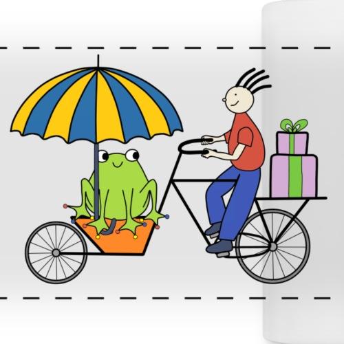 frog on bike - Panoramic Mug