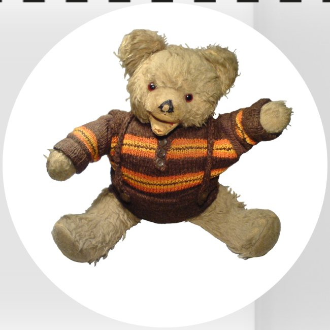Teddybär - orange braun - Retro Vintage - Bär