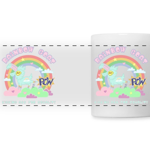 POW! Rainbow Goat Kicking Ass for Equality - Panoramamugg