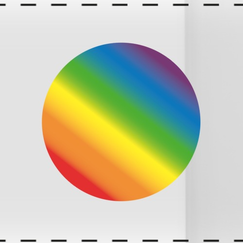 Regenbogen Kreis - Panoramatasse