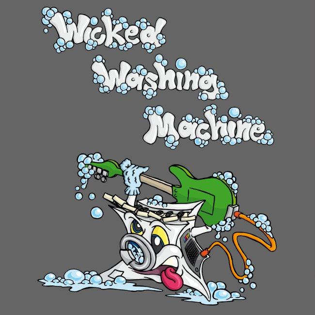 Wicked Washing Machine Cartoon and Logo