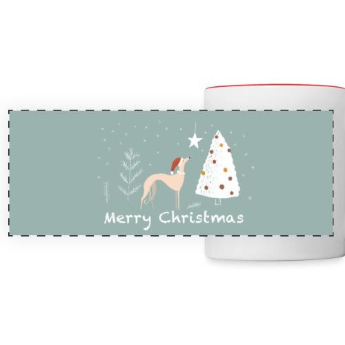 Windhundweihnachten - Panoramatasse