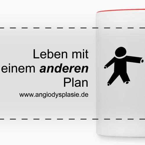 Hinten Schwarz mit schwarzem Logo - Panoramatasse