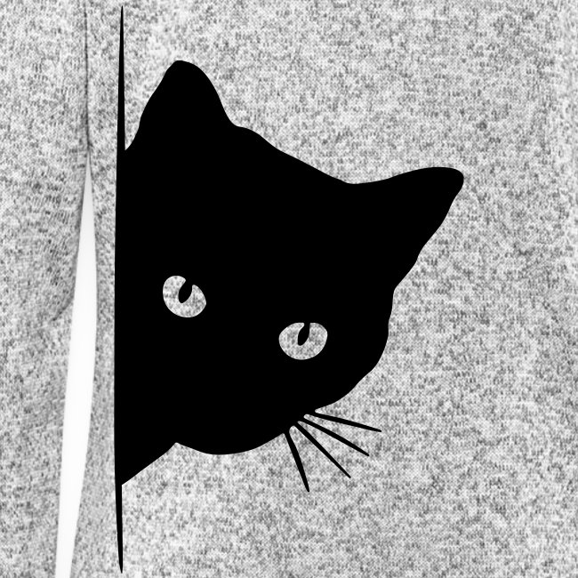 Vorschau: peeking cat - Frauen Kapuzen-Fleecejacke
