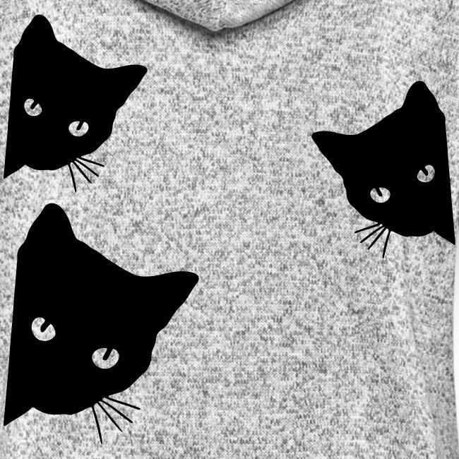 Vorschau: cats - Frauen Kapuzen-Fleecejacke